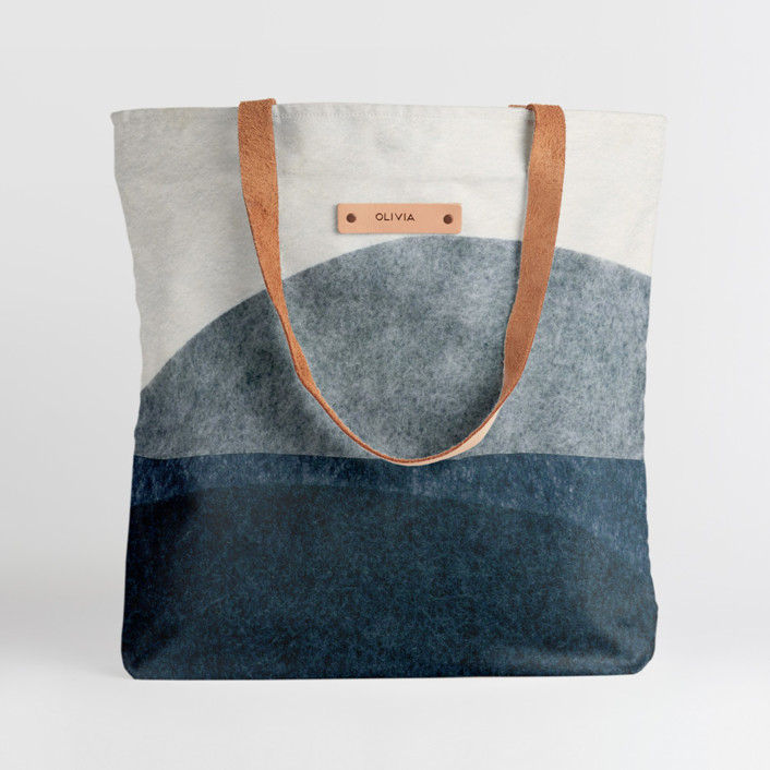 tissue overlay Snap Tote, $30