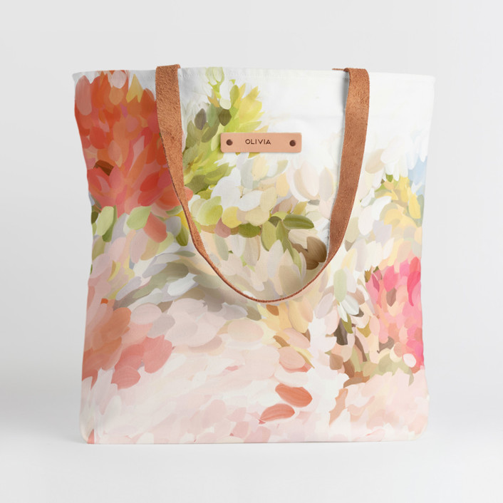 Spring Bloom Snap Tote, $30