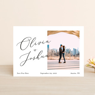Modern day names Save The Date Postcards