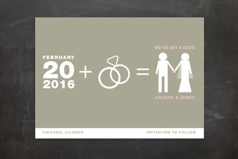 Matrimony Save The Date Postcards