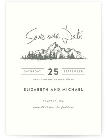 Mountains Save The Date Postcards