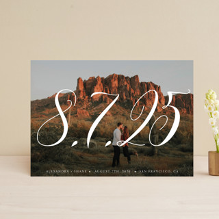 Big is beautiful Save The Date Postcards