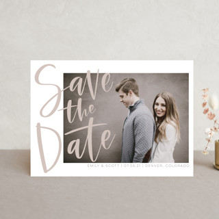 Simple Love Save The Date Postcards