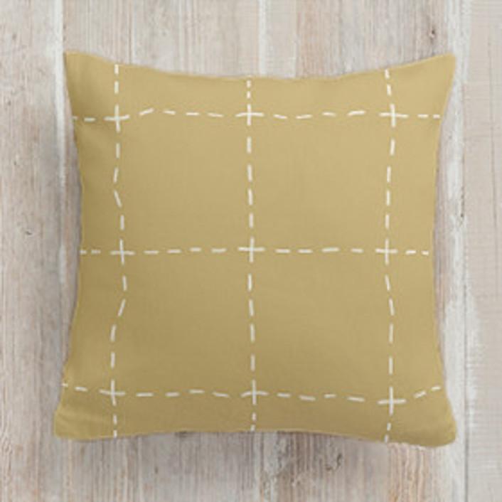 Drawn Pane Square Pillows