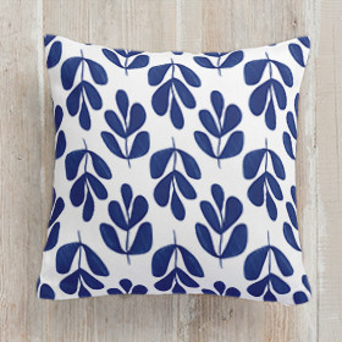 Abstract Fronds Square Pillows