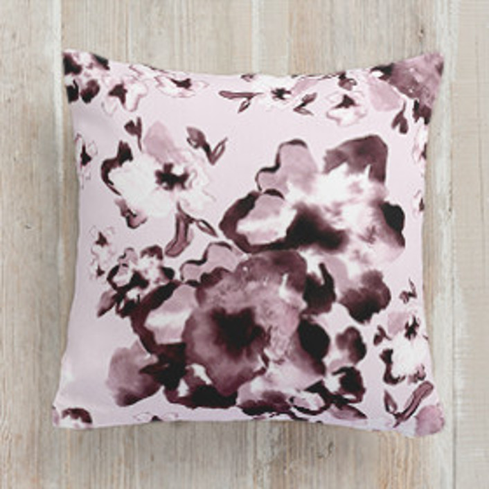 Aubergine Cascade Square Pillows