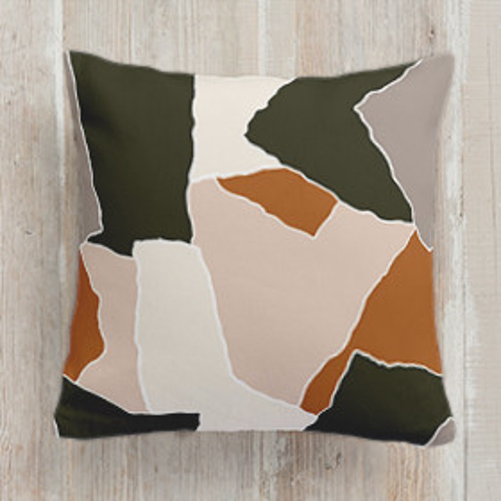 Paper Scraps Square Pillows