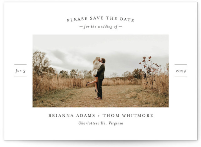 More Than a Crush Save The Date Cards