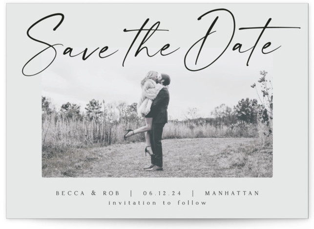 Flash Dance Save The Date Cards