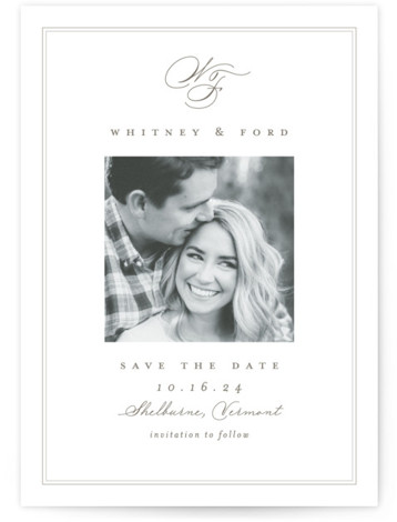 Simple Edge Save The Date Cards