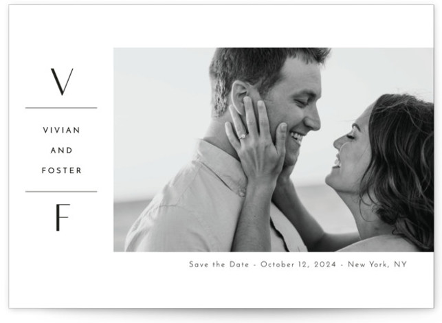 Initial Attraction Save The Date Cards