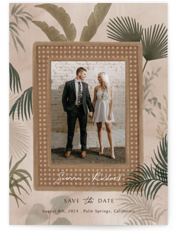 Tropical Rattan Save The Date Cards