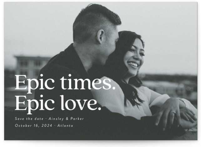Epic Save The Date Cards