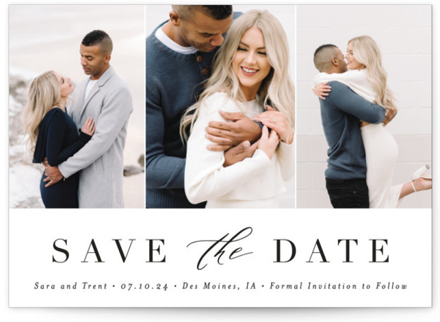 Minimal Elegance Save The Date Cards