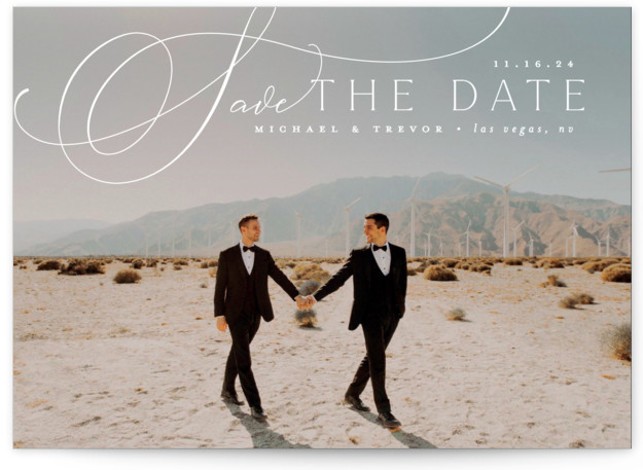 Trailing Save The Date Cards