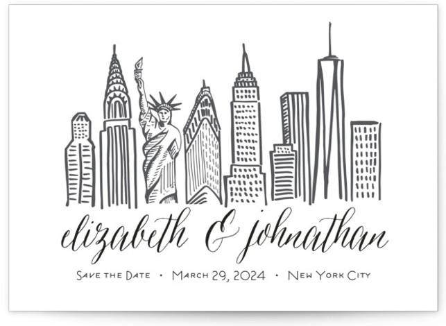 Skyline - New York City Save The Date Cards
