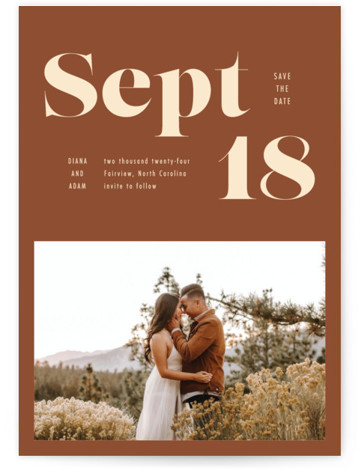 Bold Print Save The Date Cards