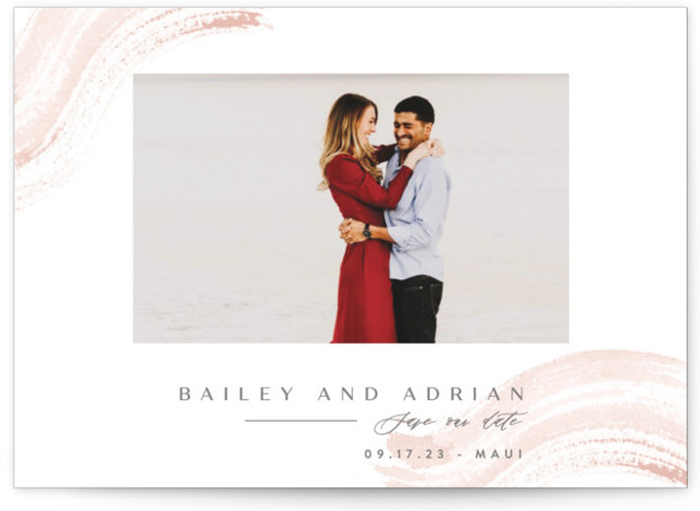 Gushing in Save The Date Cards