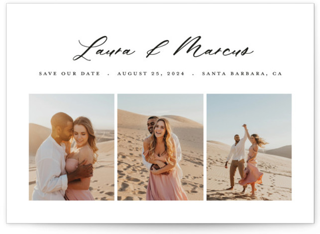 Triptych Save The Date Cards
