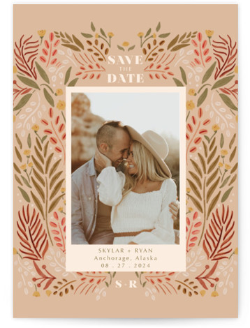 Floral Folklore Save The Date Cards