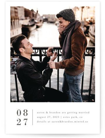 Stacked Banner Save The Date Cards
