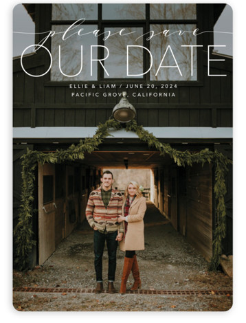 Mixed Type Save The Date Cards