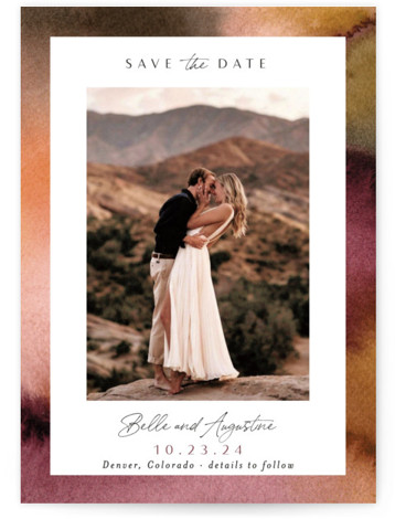 Sunset Frame Save The Date Cards