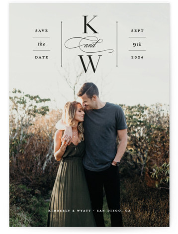 Romantic Label Save The Date Cards
