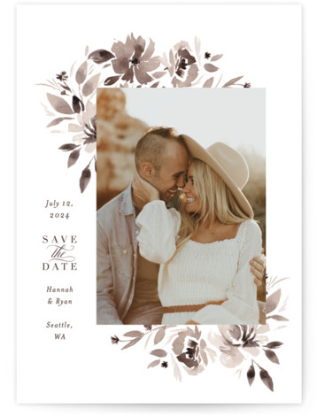 sepia Save The Date Cards