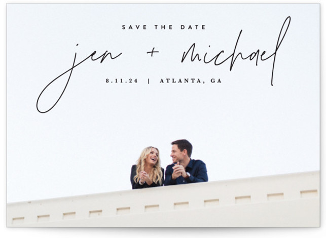 Penned Save The Date Cards