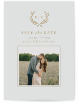 Lined Laurel Save The Date Cards