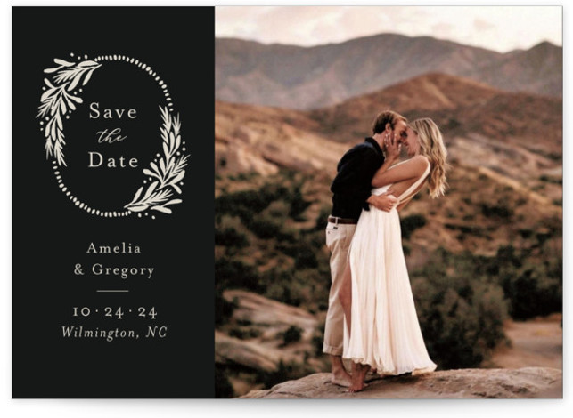 Heirloom Wreath Save The Date Cards