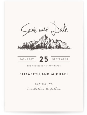 Mountains Save The Date Cards
