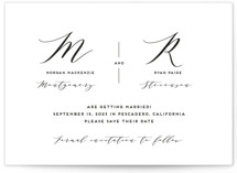Elegant Monogram Save The Date Cards