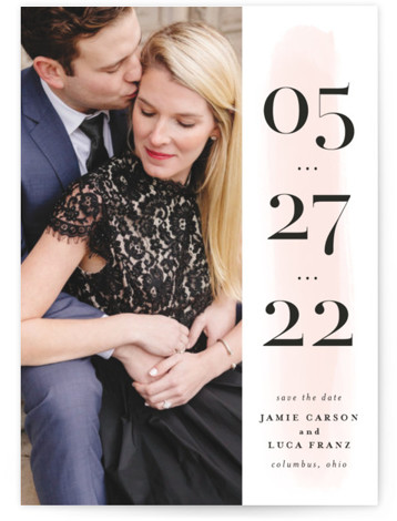 Tall Save The Date Cards