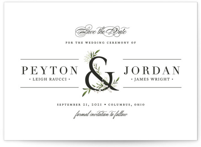 Adorned Ampersand Save The Date Cards