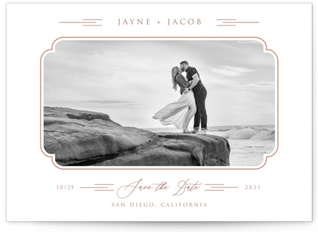 Windswept Deco Save The Date Cards