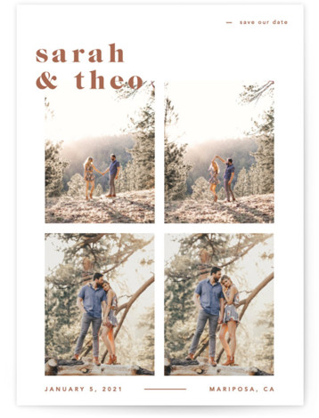 Bold Save The Date Cards