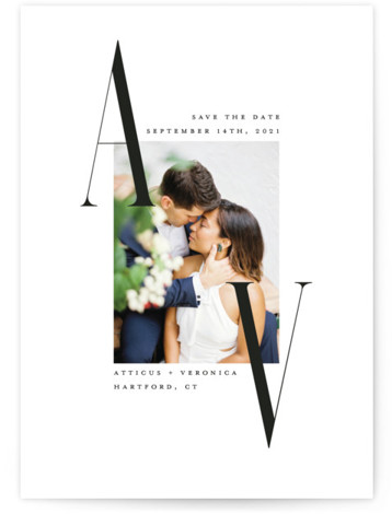 Elegant Initials Save The Date Cards