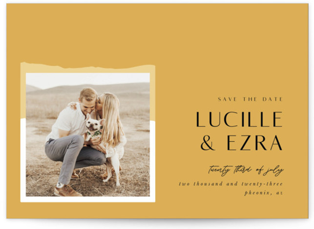 Love and Harmony Save The Date Cards