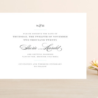 Charming Go Lightly Grand Save The Date Cards