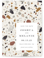 Terrazzo Grand Save The Date Cards