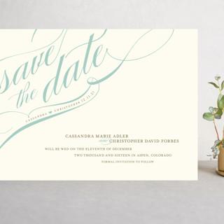 Winter Flourish Grand Save The Date Cards