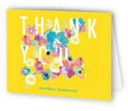 Floral Sixteenth Sweet Sixteen Party Thank You Cards
