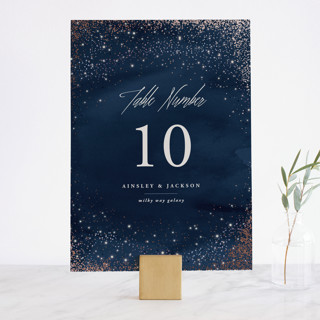 Sparkling Night Sky Foil-Pressed Wedding Table Numbers