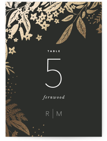 Gather Foil-Pressed Table Numbers
