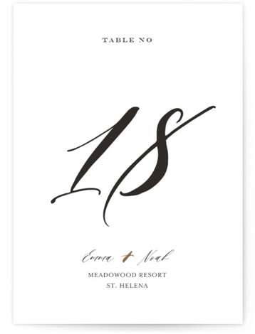 A Touch of Gold Foil-Pressed Table Numbers