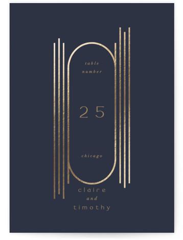 Minimalist Deco Foil-Pressed Table Numbers