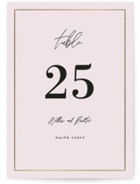 Pinecrest Foil-Pressed Wedding Table Numbers