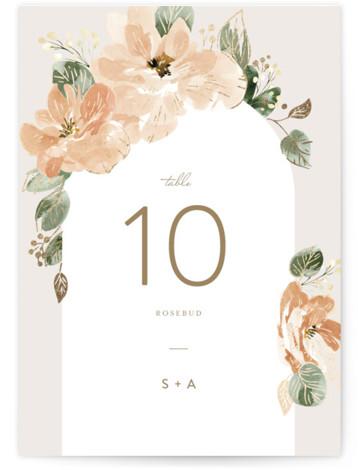 Bloom Foil-Pressed Table Numbers